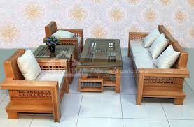 Phong khach mini sang trong voi ghe sofa vai khung go soi